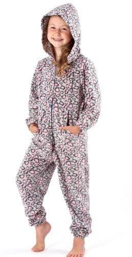 Pijama de una pieza para niños, varios diseños Grey/Pink Camouflage