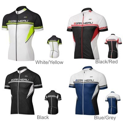 Louis Garneau 2013 Men's Equipe Short Sleeve Cycling Jersey - 3820589 (White/Yellow - - Equipe Jersey Cycling Sleeve Short