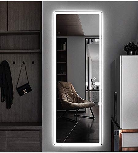 MirrorsRUS Vertical 47×22 Inch Wall Mounted LED Lighted Vanity Mirror