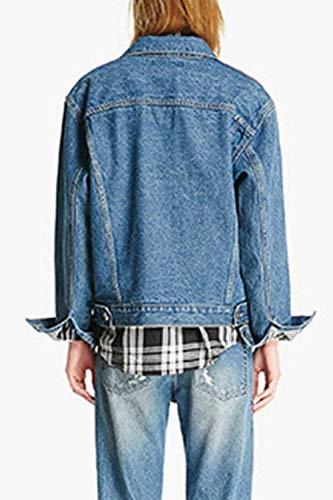 Fidanzato Lunghe Eleganti Fashion Primaverile Moda Cappotto Tendenza Autunno Giacche Ragazza Jeans Base Donna Casual Blu Relaxed Rinalay Maniche Blau Giacca Jacket Stile xIwq0a6Wv