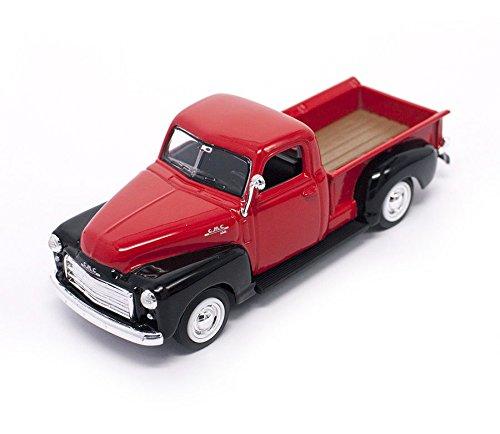 - Road Signature 94255-RD/BK 1950 GMC Pickup Truck Red/Black 1/43 Diecast Model Car