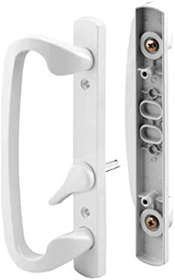 Slide Co 144078 Mortise Style Sliding Door Handle Set Replace Old Or Damaged Door Handles Quickly And Easily For Right Or Left Handed Doors White Diecast 3 15 16 Mounting Holes Amazon Com