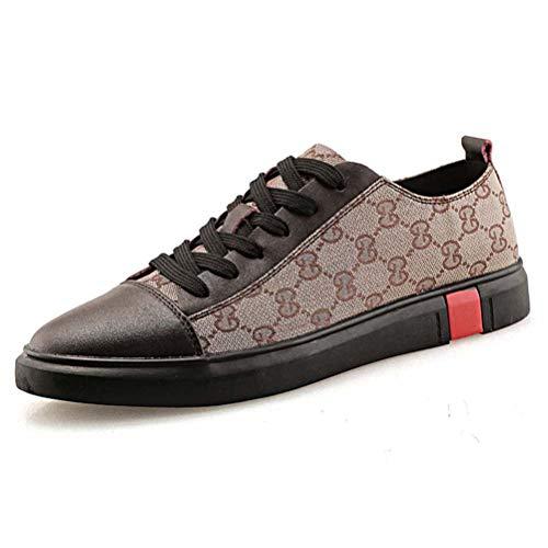 Chaussures Skate De Chaussures Brown 46 Leather Sneaker La Shoes Mode À Course Pied À Hommes pour aa0xT1zS