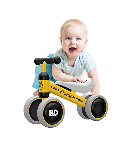 YGJT Baby Balance Bikes Bicycle Baby Walker Toys Rides for 1 Year Boys Girls 10 Months-24 Months Baby's First Bike First Birthday Gift Yellow Duck ()