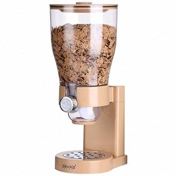 Zevro PROZ – Dispensador único dispensador de cereales para alimentos secos c0228zv/arena/Gran