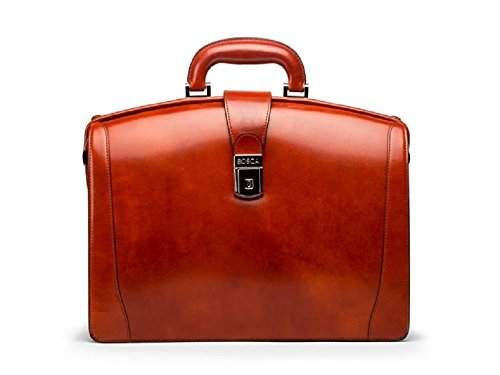 Bosca Old Leather Small Partners Briefcase (Cognac)