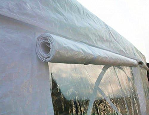 Heavyduty White Tarp Poly Tarpaulin Canopy Tent Shelter Car Multi Purpose by BONNILY (Image #3)