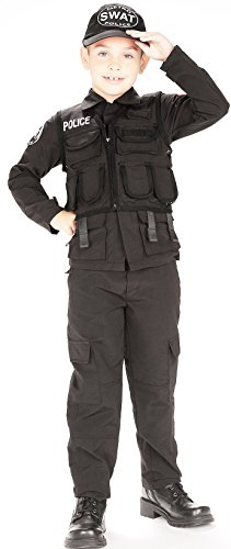 Young Heroes Child's SWAT Police Costume, Large (Cop Halloween Costumes Cheap)
