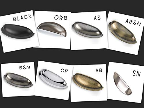 Modern Concise Design Style Shell Ear-Like Zinc Alloy Cabinet Drawers Pulls/Shoe Cupboard Door Handle - (Color: ORB)