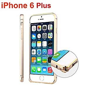 QHY iPhone 6 Plus compatible Solid Color/Metallic Bumper Frame , Silver