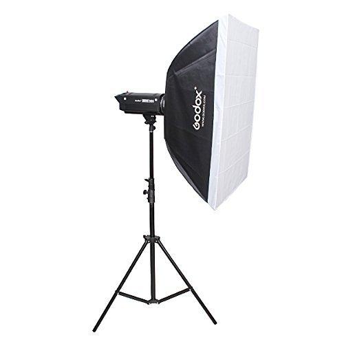 Godox 60cm X 90cm/24''x 36'' Portable Rectangular Studio Strobe Softbox Diffuser with Bowens Mount for Studio Flash speedlite+ SUPON USB LED Free Gift (60cm x 90cm)