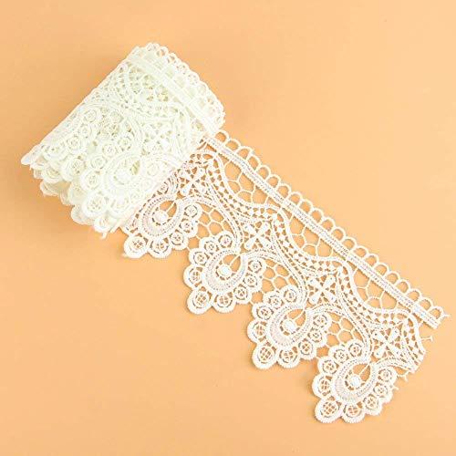 e Lace Applique Sewing Trim Bridal Wedding Applique White 2 Yards ()