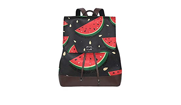 KEAKIA Women PU Leather Music Icons Backpack Purse Travel School Shoulder Bag Casual Daypack