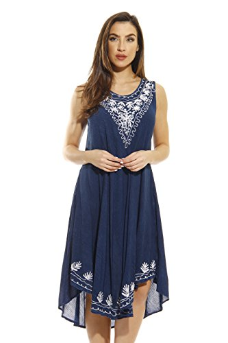 21639-DARKDENIM-1X Riviera Sun Dress / Dresses for Women,Dark Denim,1X