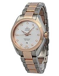 OMEGA Women's Seamaster Diamond 34mm Two Tone Steel Bracelet Automatic MOP Dial Watch 231.20.34.20.55.001