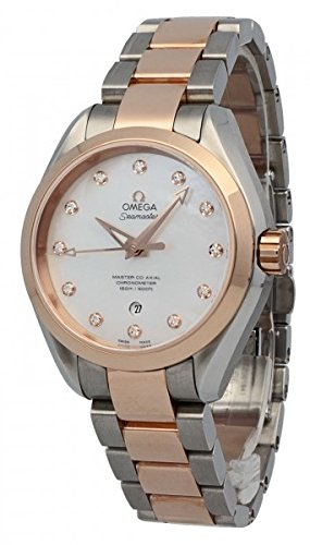 OMEGA Women's Steel Bracelet Rose Gold Case Automatic MOP Dial Analog Watch 231.20.34.20.55.001