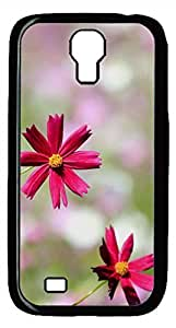 Samsung Galaxy S4 I9500 Black Hard Case - Red Flowers 1 Galaxy S4 Cases by Maris's Diary