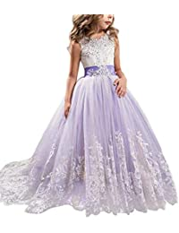 Girls Princess Pageant Dress Kids Prom Ball Gowns Wedding...