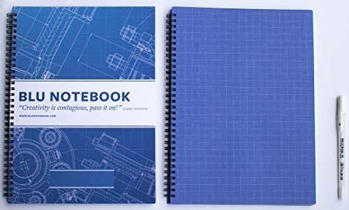 amazon com blueprint paper spiral notebook by blu notebooks