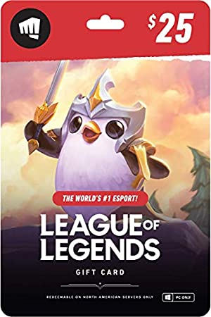 League of Legends $25 Gift Card » NA Server Only [Online,
