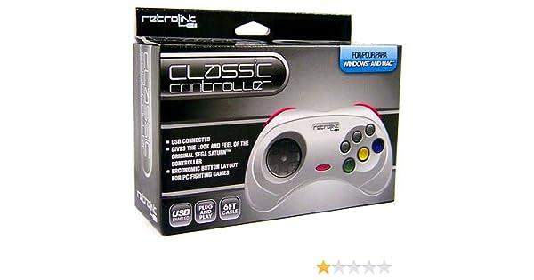 Retro-Bit-PC-1408 Saturn - Controlador USB con Cable, Color Gris: Amazon.es: Informática