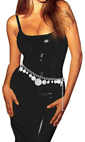 Luna Sosano Women's Chain Belt - Type 58 - Polished Silver