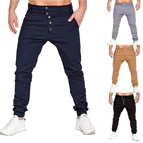 Battercake Los Color Moda Primavera Pantalones Cómodo Hombres Chándal Sólido Ocio Y Otoño Marine De wwEzqgr