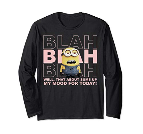 Despicable Me Minions Blah Sums Up My Mood Long -