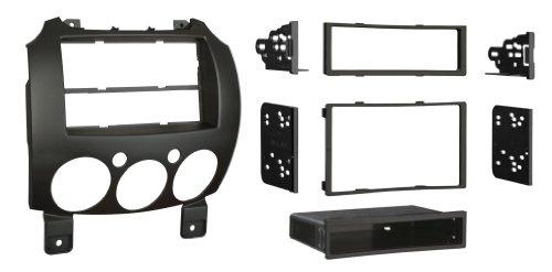 Metra 99-7518B Single/Double DIN Dash Installation Kit for 2007-Up Mazda 2 Vehicles, Black (Metra Dash Kit Mazda)