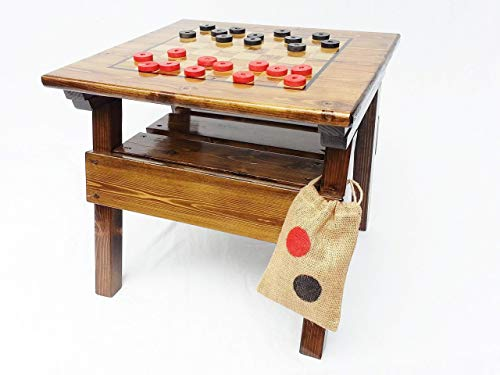 Kids Checkers Game and Activity Table Outdoor Wooden Game