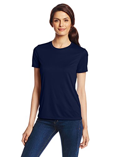 Hanes Sport Women's Short Sleeve Cool DRI Performance Tee, Navy, X-Large