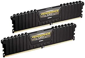 Corsair Vengeance LPX 16GB (2x8GB) DDR4 DRAM 3000MHz C15 Desktop Memory Kit - Black (CMK16GX4M2B3000C15) XMP 2.0 High Performance