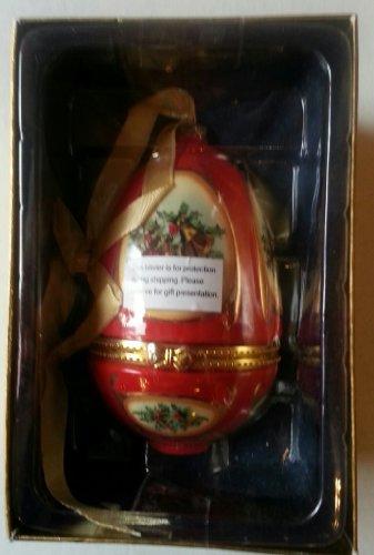 Mr Christmas Porcelain Musical Ornament Red Egg Music Box,