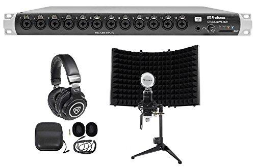 PRESONUS Studiolive 16R Digital Rack Mount Mixer+Headphones+Mic+Mount+Shield ()