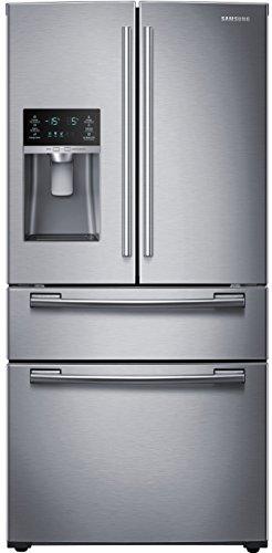 (SAMSUNG RF25HMEDBSR French Door Refrigerator, 24.7 Cubic Feet, Stainless Steel)