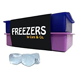 Perfect Size Silicone Ice Cube Tray, Set of 2, FREEZERS,No Odor or Aftertaste! 42 PERFECT SIZE CUBES - Each tray contains 15- 1.25 square inch ice cubes. Because of the perfect size of the template, the formed ice cubes are large enough so they melt slowly, and cool your drink fast. The size of the cubes fit every type of glass. Enjoy every cold drink with minimal dilution! Perfect for hot summer days! HYGIENIC AND EASY TO USE - The trays are made from rigid but flexible silicone, so they keep their shape while handled, and allow - by simple push of the finger - easy separation of each cube directly into the glass without the need to touch the cube itself. ICE CUBES WITH NO AFTERTASTE! - Finally you can enjoy the true taste of your drink. We use only the best materials for our products, leaving it odor free and without any aftertaste. The trays are BPA free and FDA approved.
