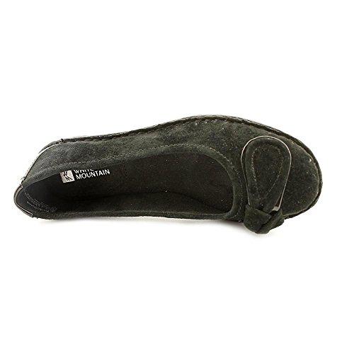 0 6 Mountain Womens Lustre Black Size White Closed Espadrille Toe Leather vqAnwz