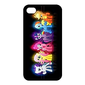 Customized iPhone Case Cartoon My Little Pony Printed Durable RUBBER iPhone 4 4S Case Cover