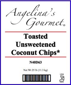 Toasted Unsweetened Coconut Chips, 25 Lb Bag by Woodland Ingredients (Image #1)