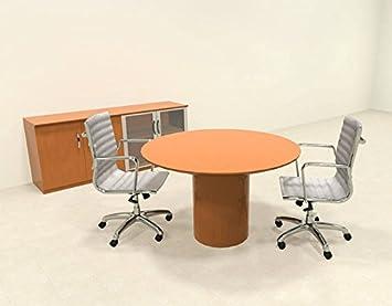 modern contemporary round conference table ro nap c31 amazon co rh amazon co uk Modular Conference Tables Conference Room Tables