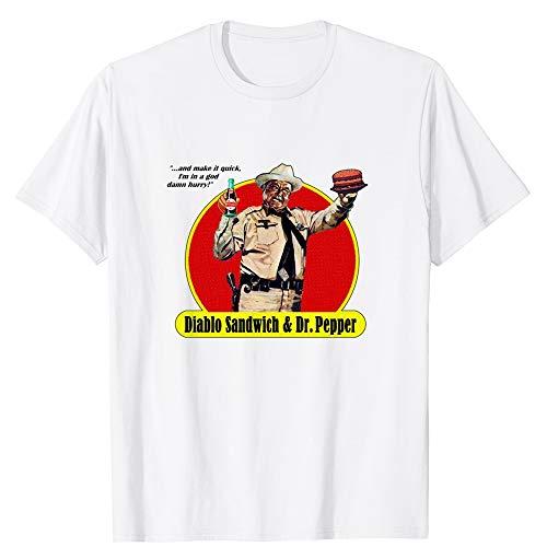 Smokey and The Bandit Diablo Sandwich & dr. Pepper and Make it Quick Vintage Gift Men Women Girls Unisex T-Shirt (White-4XL) (Diablo Sandwich And A Dr Pepper T Shirt)