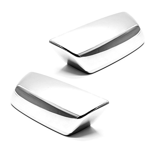 (LJ INTERNATIONAL Quality Accessories Triple Chrome Plated Non-Towing Top Half Mirror Covers Compatible with Chevy Silverado/GMC Sierra)