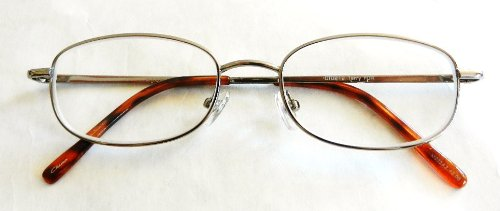 (2 PACK) Magnivision +1.25 Silver Wire Frame Reading Glasses w/ Spring Hinges (155)+ FREE CLEANING - Maui Frames Glasses