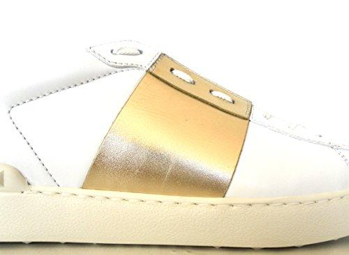 L71 Ny2s0830 Uomo Scarpe Valentino Bianco Sneakers Garavani Oro 1gtqWZIXW
