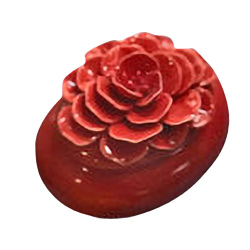 Drew Derose Glossy Red Floral Covered 3 x 2 Ceramic Decorative Trinket (Floral Covered Box)