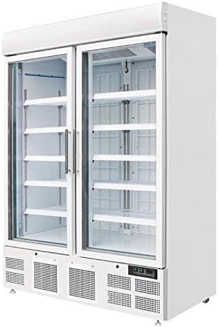 Congelación vitrina vitrina Congelador Nevera con puerta cristal ...