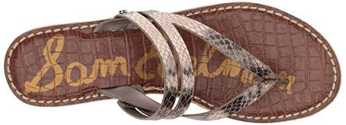 Sam Edelman Women's Rasha Wedge Sandal Pewter Metallic Boa discount under $60 DsLe6U6y