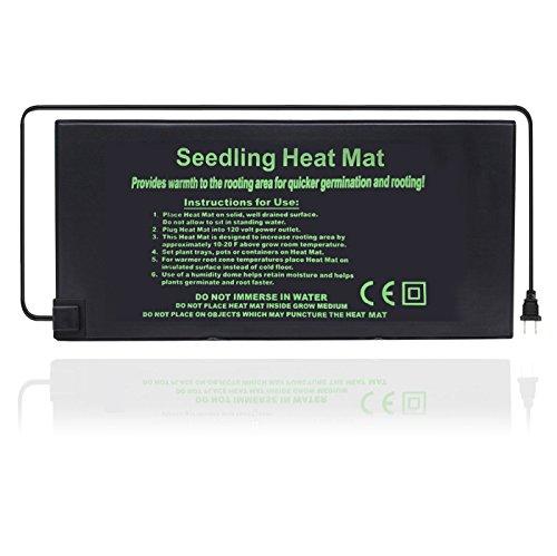"GreenHouser 20""x10"" 20""x20"" 48""x20"" Waterproof Durable Seedling Heat Mat,Warm Hydroponic Heating Pad Improve Germination for Greenhouse Indoor Room Garden (20x20(Inch)) ()"