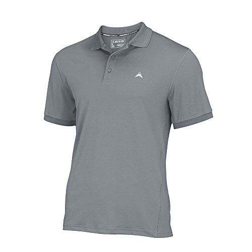 Arctic Cool Men's Solid Instant Cooling Polo with UPF 50+ Sun Protection, Storm Grey, M