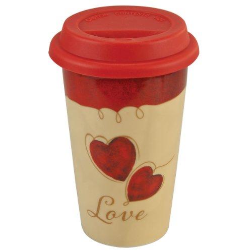 Valentine's Ceramic Travel Mug – 1 Corninthians 13:8
